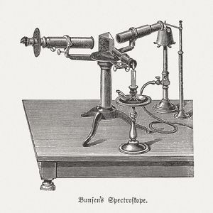 Spectroscope (c. 1860) by Bunsen and Kirchhoff, published in 1880