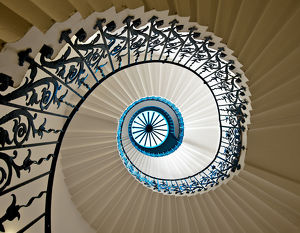 Spiral staircase at Queen's House, Greenwich, London