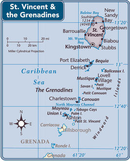 St. Vincent and the Grenadines country map