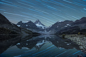 Star Trail at Magog Lake