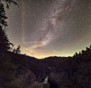 A Starry Night at Linville Falls