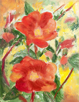 Summer roses painting
