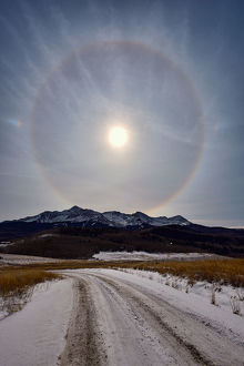 Sun Halo over Wilson Peak