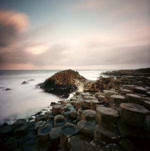 Sunrise at Giant Causeway