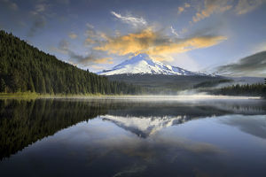 Sunrise at Trillium Lake with Mount Hood