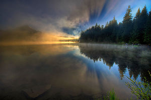 Sunrise at Trillium Lake, Oregon