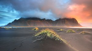 global landscape views/fred concha photography/sunrise vesturhorn mountain iceland