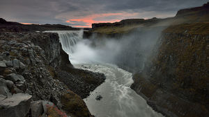 global landscape views/fred concha photography/sunset detifoss waterfall iceland