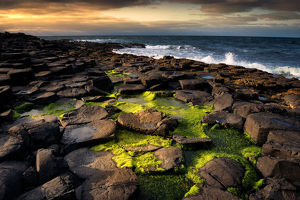 Sunset at The Giant's Causeway.