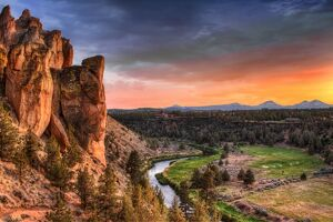 Sunset at Smith Rock State Park in Oregon