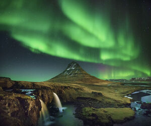 The Symphony of Light at Kirkjufell Mountain