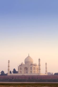 Taj Mahal under hazy sky, Agra, Uttar Pradesh, India