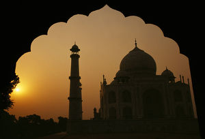 Taj Mahal at sunset in Agra, India