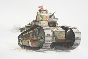 Renault FT17 French army tank