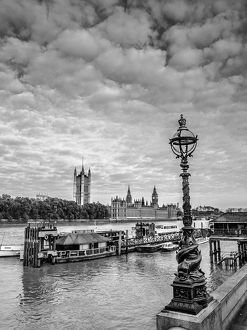 Thames River Against Cloudy Sky Seen From Tower Bridge