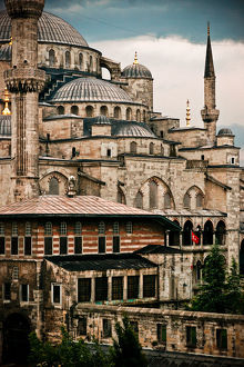 Turkey, Istanbul, Sultanahmet, View Of Blue Mosque