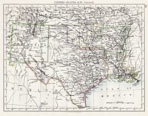 United States South West Central map 1897