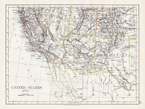 United States South West map 1897