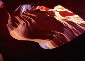 USA, Arizona, Antelope Canyon, water-carved red sandstone