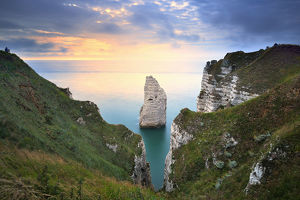 global landscape views/fred concha photography/view cliffs daval sunset etretat normandy