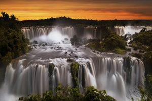 View Of Iguazu Falls From Brazilian Side, Parana State, South America