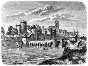 View of Limerick in Ireland