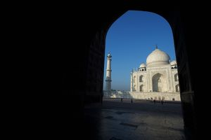 View of the Taj Mahal through archway, Agra, Uttar Pradesh, India