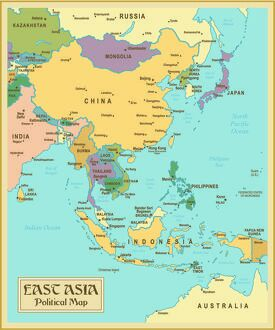 maps/vintage map east asia