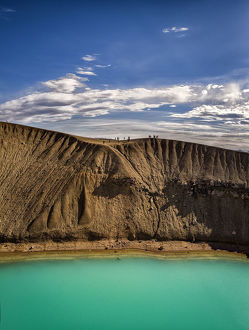 aerial views/amazing drone aerial photography/viti crater northern iceland