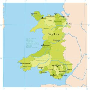 Wales Vector Map