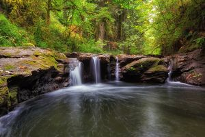 Waterfall at Rock Creek Clackamas Oregon