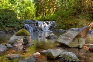 Waterfall at Sweet Creek in Oregon