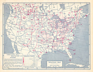 Weather map of United States 1895