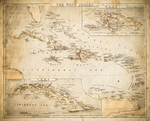 West Indies map of 1869