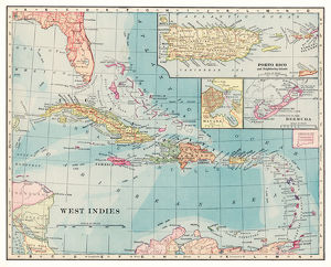 West Indies map 1892