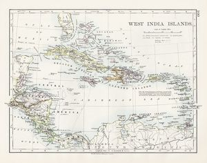 West indies map 1897