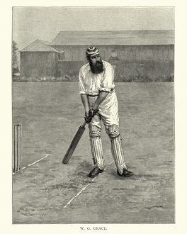 magical world illustration/digital vision vectors/william gilbert w g grace english cricketer