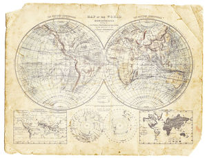 World map of 1869